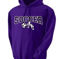 Sports Katz Zebra Hoodie SOCCER Purple Small