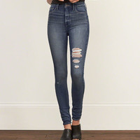 A&F High Rise All-Way Stretch Super Skinny Jeans