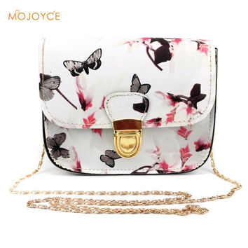 Floral Print Women Leather Handbags Fashion Messenger Bags Small Shell Package Women Shoulder Bag Women Pouch New Brands