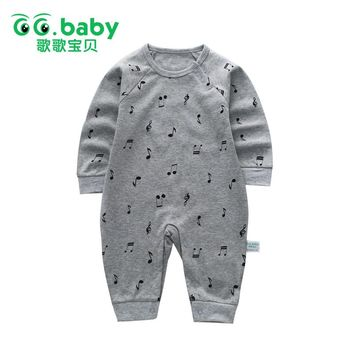 Infant New Born Baby Boy Rompers Baby Girl Rompers Clothes White Overalls Newborns Clothing Unisex Solid Jumpsuit Long Sleeve