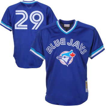 Mitchell & Ness Joe Carter 1993 Authentic Mesh BP Jersey Toronto Blue Jays In Royal