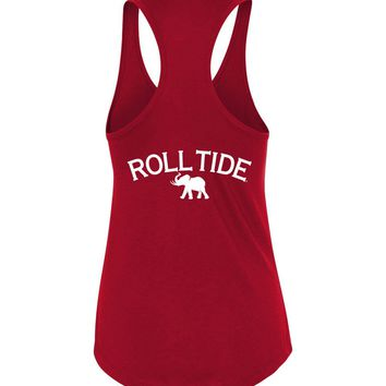 Official NCAA Venley University of Alabama Crimson Tide UA ROLL TIDE! Next Level Racerback Tank - 35AL-18