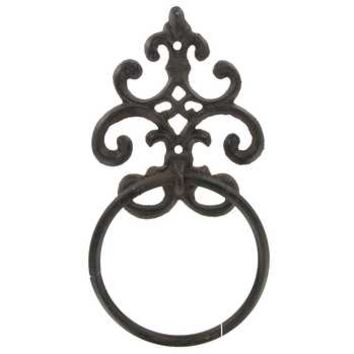 Brown Metal Scroll Wall Towel Ring | Hobby Lobby | 465757