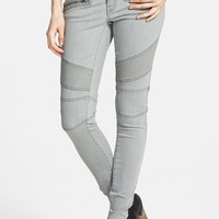 Junior Women's Sun & Shadow Moto Denim Leggings