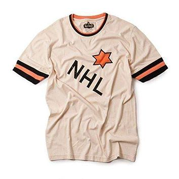 Mens Red Jacket Vintage NHL All Star 1934 Remote Control Shirt