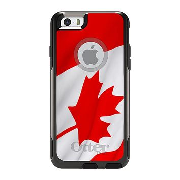 DistinctInk™ OtterBox Commuter Series Case for Apple iPhone or Samsung Galaxy - Red White Canadian Flag Canada