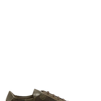 Common Projects Olive Leather Camo Print Achilles Sneakers