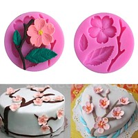 3D Food-grade Silicone Mold Peach Blossom Cake Decorating Tool Chocolate Candy Jello Baking moldes de silicona para reposteria