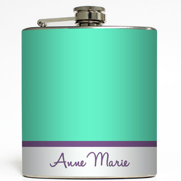 Colorblock with Name - Personalized Flask