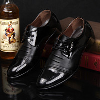 Mens Shiny Points Dress Shoes