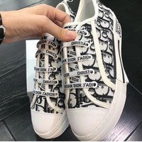 Dior WALK'N'DIOR SNEAKER IN OBLIQUE EMBROIDERED CANVAS