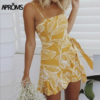 Palms Print Wrap Dress