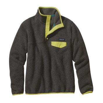 Patagonia Women's Lightweight Synchilla® Snap-T® Pullover | Nickel w/Mayan Yellow