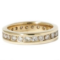 2ct Channel Set Diamond Eternity Ring 14K Yellow Gold