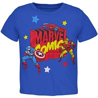 Marvel Heroes - Blocky Marvel Logo Toddler T-Shirt