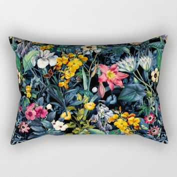 Exotic Garden Rectangular Pillow by Burcu Korkmazyurek