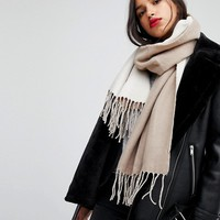 New Look Double Plain Scarf at asos.com