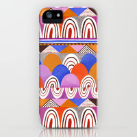 Abstract Hills iPhone Case by Janet Broxon | Society6