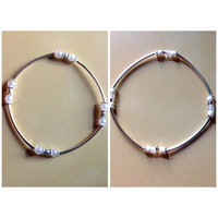 Wedding Curved Tube Bead Bracelets-Wedding-Awareness Ribbon-Stackable-Any Color-Stretchable-Bridesmaid Gifts-Any Gifts-Brides Gift-