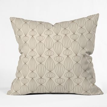 Gabi Lanterns Mocha Throw Pillow
