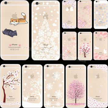 6 6S Novel Styles Painting Tree Fruit Silicon Phone Cover Cases For Apple iPhone 6 iPhone 6S iPhone6 Case Shell 2017 Top Fashion