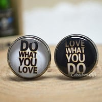 Motto  Words Cufflink,'Do What You Love' and 'Love What You Do' cuff Links,Men accessories  (CL21)