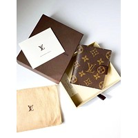LV Louis Vuitton Brown Button Wallet Brown B-MYJSY-BB