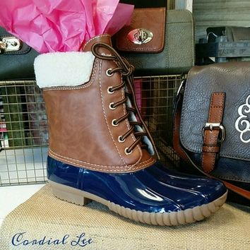 Dylan Duck Boots - Navy