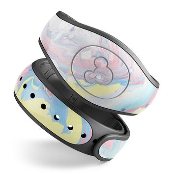 Marbleized Swirling Cotton Candy - Decal Skin Wrap Kit for the Disney Magic Band