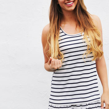 Stripe It Up Tank Dress