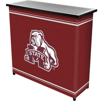 Mississippi State University  2 Shelf Portable Bar w- Case