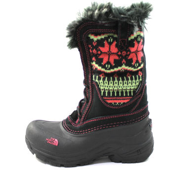 The North Face Girl's/Youth Shellista Lace Novelty Black/Sea Coral Knit Boots