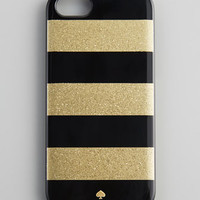 glitter jubilee striped iPhone 5 case, black/gold