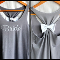 BRIDE Bridesmaid Tank top with Bow