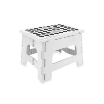 Kikkerland® Easy Fold Step Stool in White
