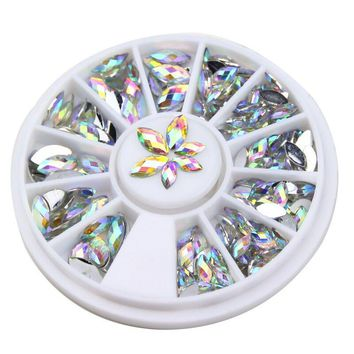 New Fashion 3D Crystal Horse Eyes Gem Glitters Rhinestones DIY Nail Art Tips Decoration Manicure Wheel WY161-WY349