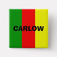 County Carlow Flag Badge Button