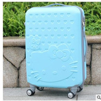 "Hello Kitty Women Travel Trolley suitcase Travel Rolling Case On Wheels 20"" 24"" Inch Travel Luggage Suitcase Luggage trolley bag"