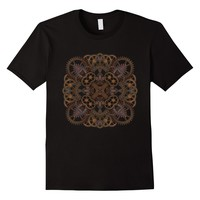 Steampunk Gear Mandala T-Shirt Graphic Yoga Tee Shirt