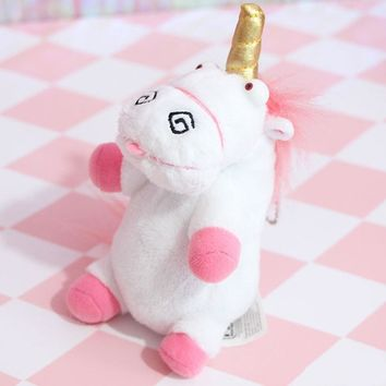Cute Pink Fluffy Unicorn Plush toys Soft Stuffed Animal Cartoon Horse Key Chain Gift Toy For Children Girls