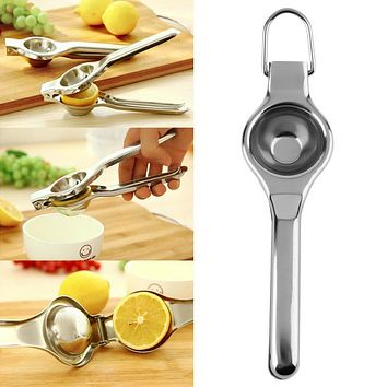 Top Sale Kitchen Bar Stainless Steel Lemon Orange Lime Squeezer Juicer Hand Press Tool Promotion!