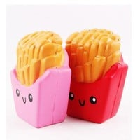 Colors at Random Lovely Cute Squishy Soft french fries Healing Toy Kawaii Squeeze Abreact Fun Joke Gifts Toys
