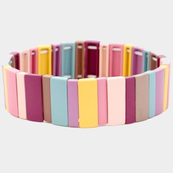 Sunset Cruise Muted Wide Colorblock Bracelet