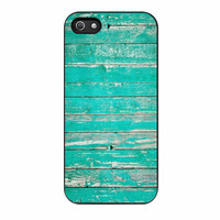 Teal Wood iPhone 5 Case