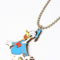 Disney Couture Jewelry The Disney Couture Jewelry X Dr Romanelli Donald Duck Wood Necklace : Karmaloop.com - Global Concrete Culture