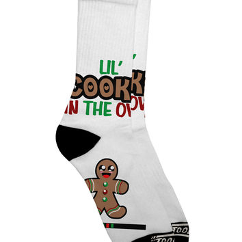 Lil Cookie In The Oven - Maternity AOP Adult Crew Socks All Over Print