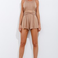 The Countdown Playsuit Beige