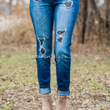 "KAN CAN SEQUIN PATCH SKINNY""S"