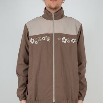 Floral Embroidered Windbreaker