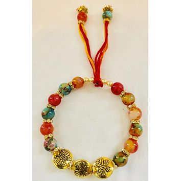 Rakhi for Bhabhi/Hanging Charm Bracelet/Wristband/ Wedding Jewelry for Girls Sister
